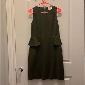 Kate Spade Havana peplum dress in Alma Green